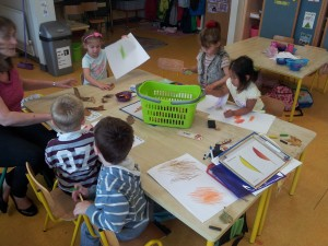 Making leaf rubbings
